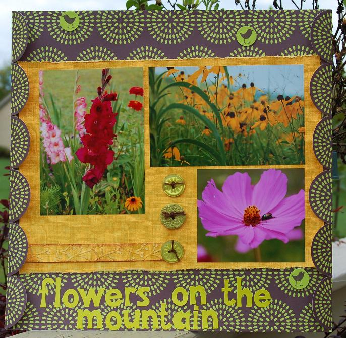 Flowers on the mountain LO