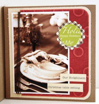 Christmas mini-album page 1