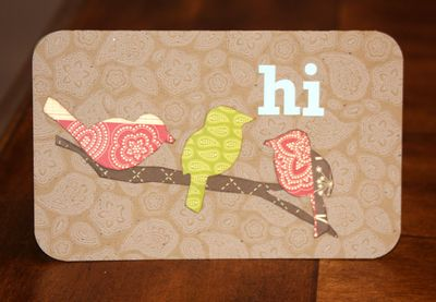 Hi birds card JB Soup