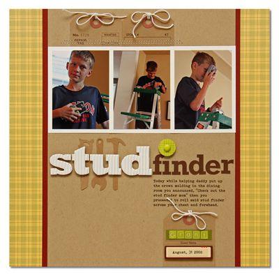 Layout-summer stud-finder