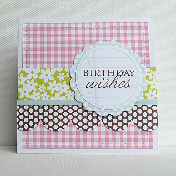 Card-Birthday Wishes - April Projects Ingrid