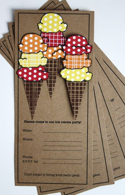 Card-sarah Ice Cream Party Invitations (small)