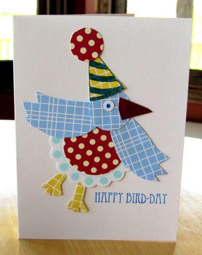 Card-Jen's Happy Bird-day Card