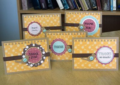 Card-aly thank you card set