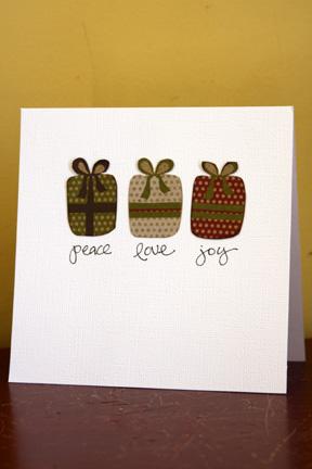 Card-shannon Peace love Joy Card