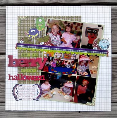 Layout-Jen's Berry Halloween LO