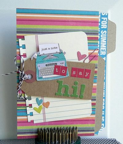 Card-Melissa Elsner-Just a Note to Say Hi