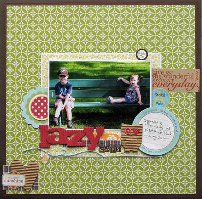Layout-nicole lazy days