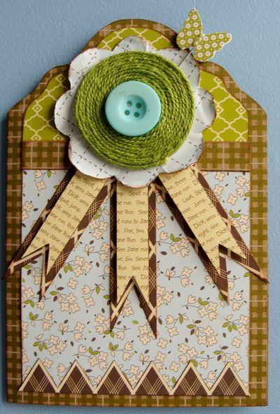 Cabbage Blossom Card - P. Folchert