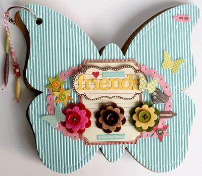 Mini album friends (butterfly) 001