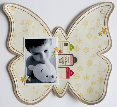 Mini album friends (butterfly) 008