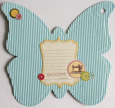 Mini album friends (butterfly) 016