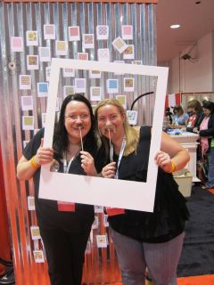 Photo booth-Tracey Shenton with Sarah Schwerin