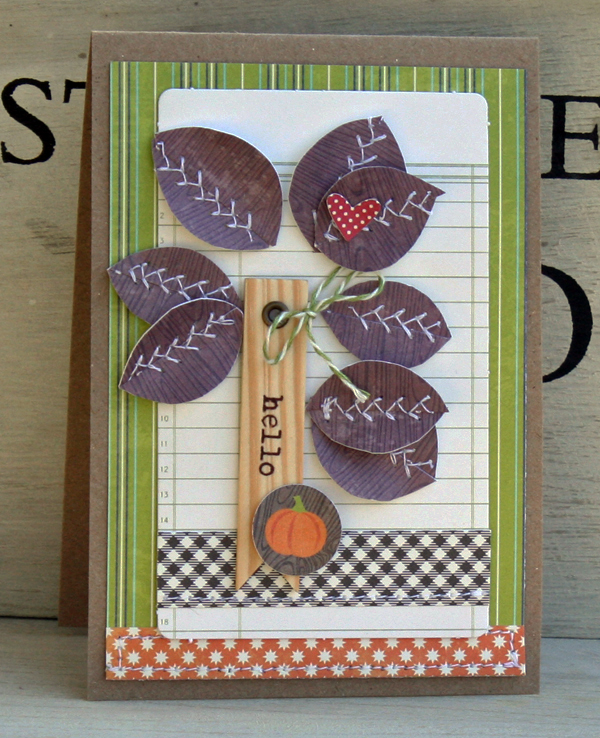 Hello fall card danni reid