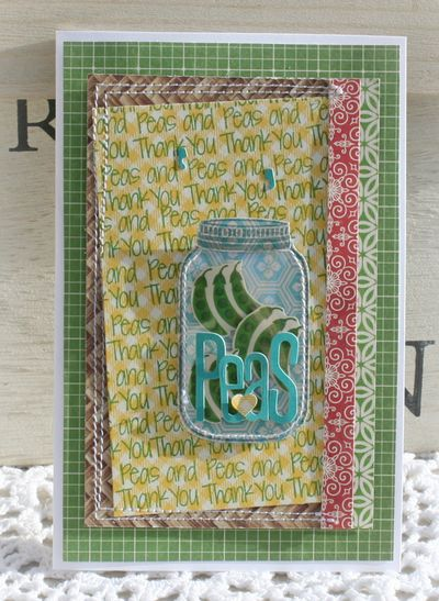 Peas and thank you card danni reid