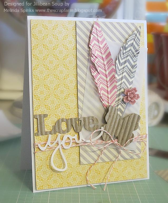 Melinda - Sketch Challenge - Love You card