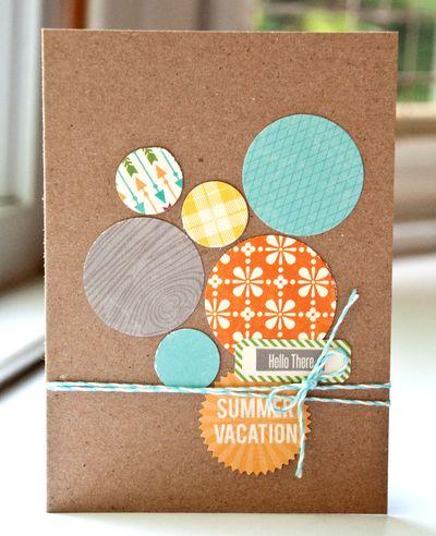 Val summer vacation card