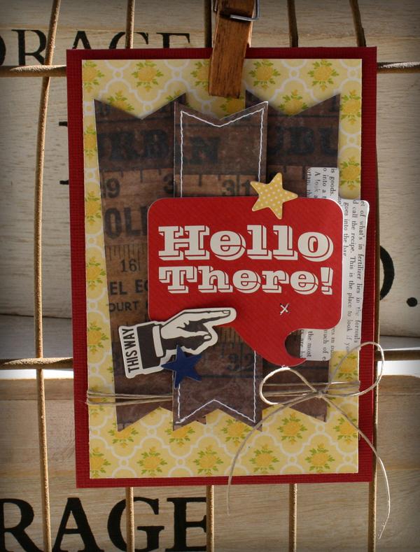 Hello there card danni reid sketch