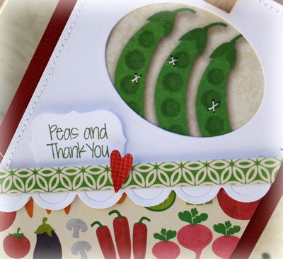 Peas and thank you card details danni reid