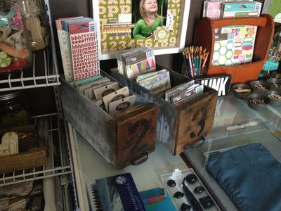 Creative Spaces_Photographer Set up_wood drawers with product