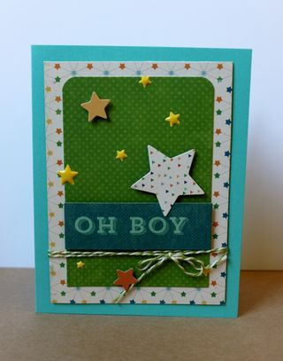 Oh Boy Baby Card PFolchert