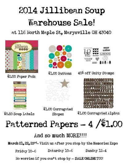 2014 Warehouse Sale Information