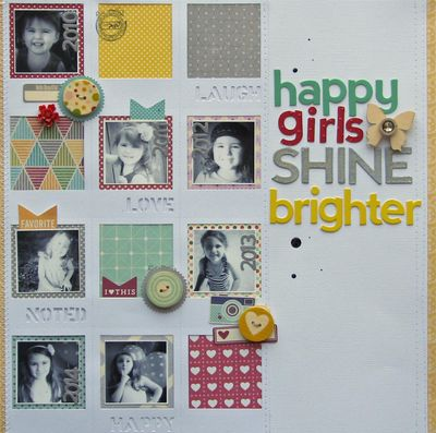 Happy girls shine brighter full