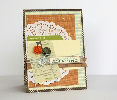 You Are So Amazing Card-Sarah