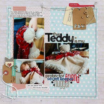 My Teddy layout -Sarah Webb