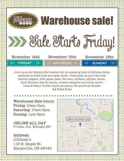 Jb-warehouse sale reminder-email