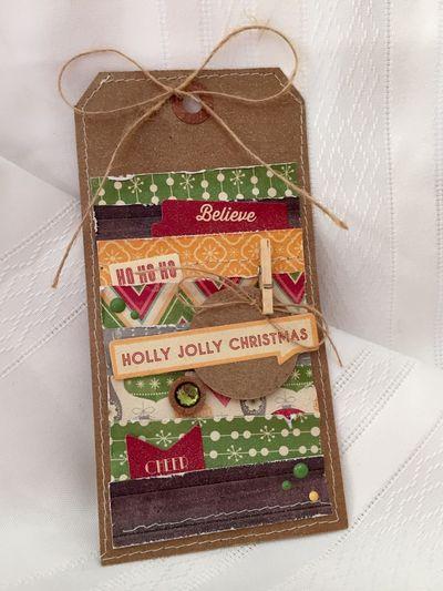 Holly Jolly Christmas Tag - Kristine Davidson