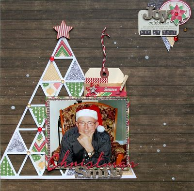 Christmas Smile Layout-Isabelle Perreault Doucette