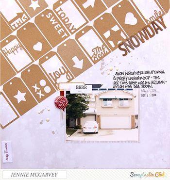 Snow Day Layout-Jennie McGarvey