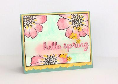 Hello Spring flowers by Sarah Webb