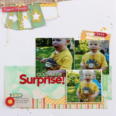 Surprise layout by Sarah Webb