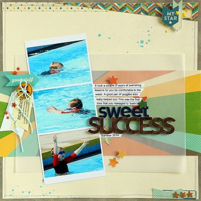 Sweet Success layout by Sarah Webb