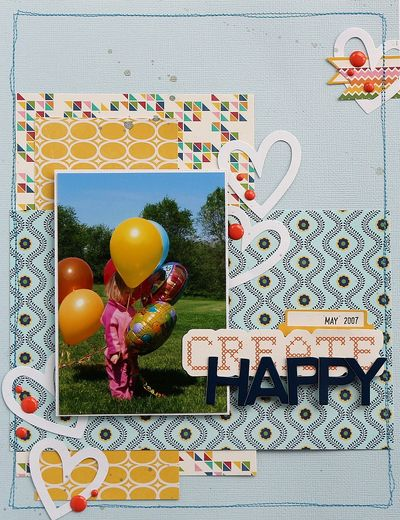 Create Happy layout by Sarah Webb