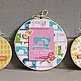 Sewing hoop wall hangings Kimberly Crawford