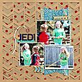 Jedi in training layout by Sarah Webb