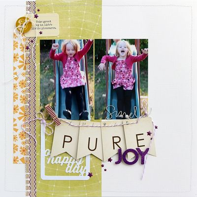 Pure Joy layout by Sarah Webb