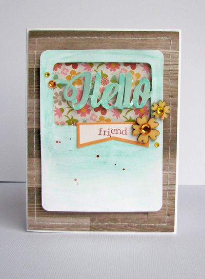 Nicole-Hello Friend card