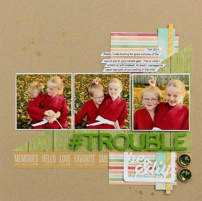 Trouble layout by Sarah Webb