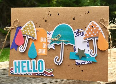 Rain Or Shine Hello Card-Kristine