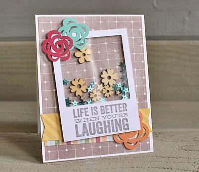 Life better shaker card Kimberly Crawford