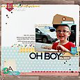 Oh boy layout by Sarah Webb