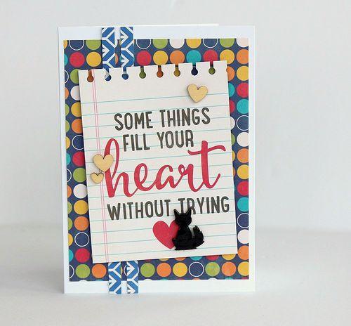 Heart card by Sarah Webb