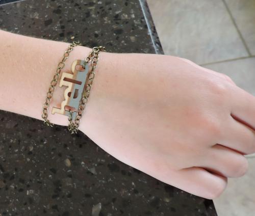 Jenifer-Wood Veneer Bracelet
