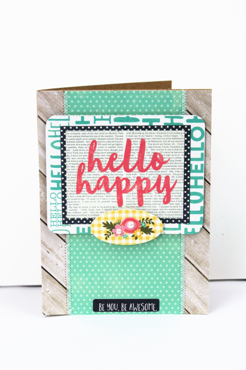 Hello Happy Card-Pfolchert