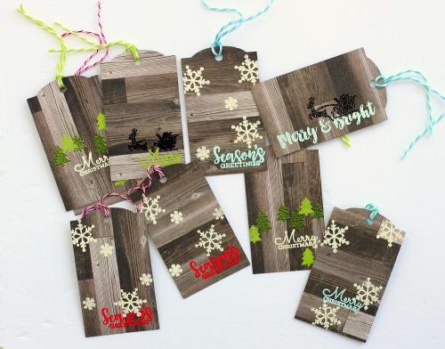 Christmas tags by Sarah Webb