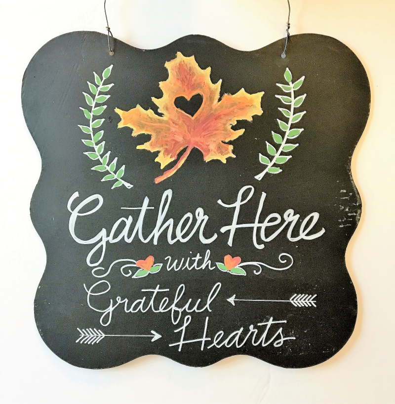 Grateful Hearts Chalkbd- Pfolchert